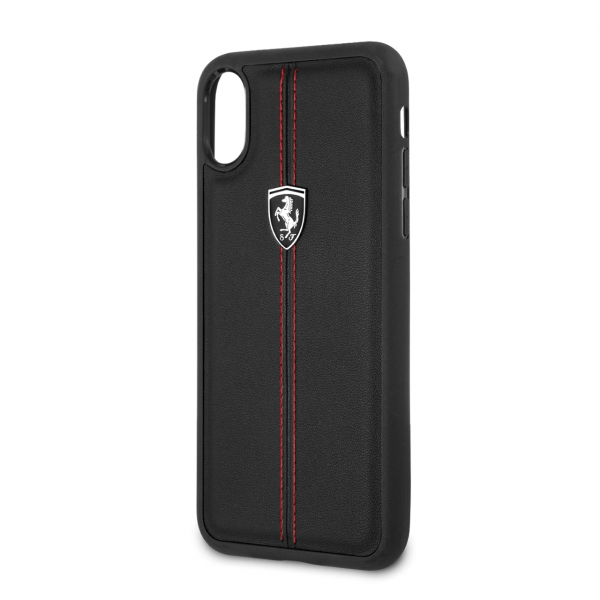 IPhone X/XS MAX FERRARI PU Leather Hard case - Black