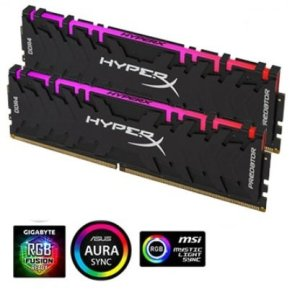 זכרון קיט לנייח 2x16 32GB 3200 Kingston Hyper X Predator RGB