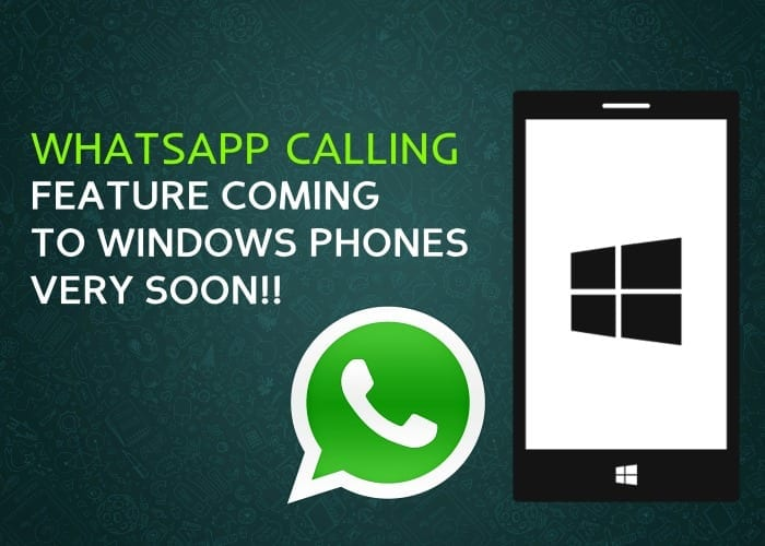 Whatsapp Calling Feature for iOS & Windows Mobile Confirms still in the works