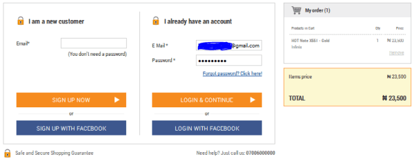 jumia customer login