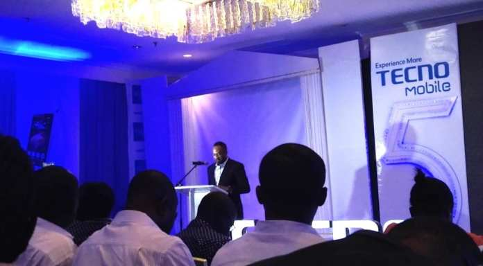 Mr Chidi Okwonkwo delivering his opening address at the launch