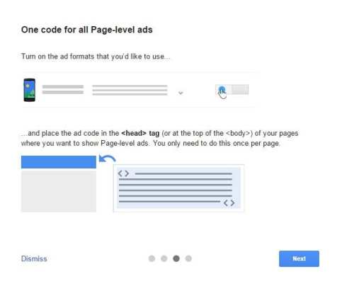 One code for all Page-level ads