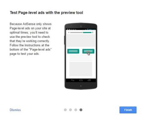 Test Page-level ads with the preview tool