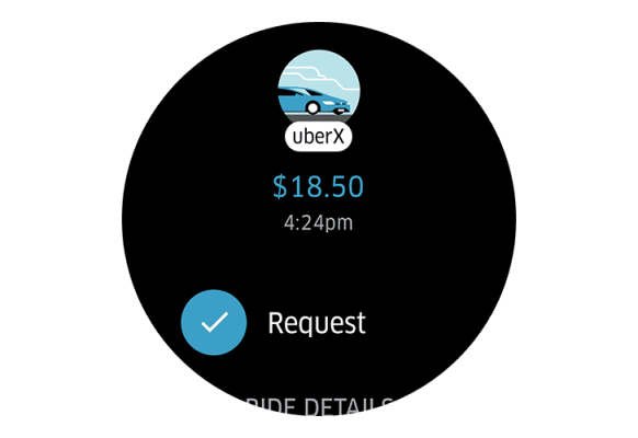Uber App Android Wear 2.0