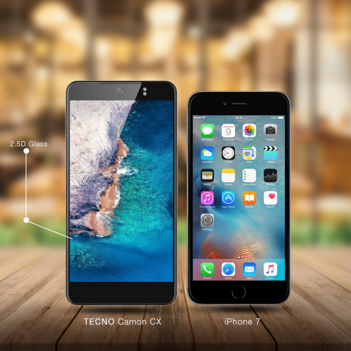 Tecno Camon CX vs Apple iPhone 7