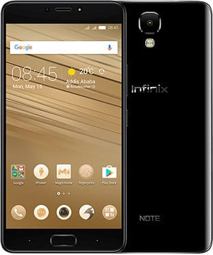 infinix note 4 black