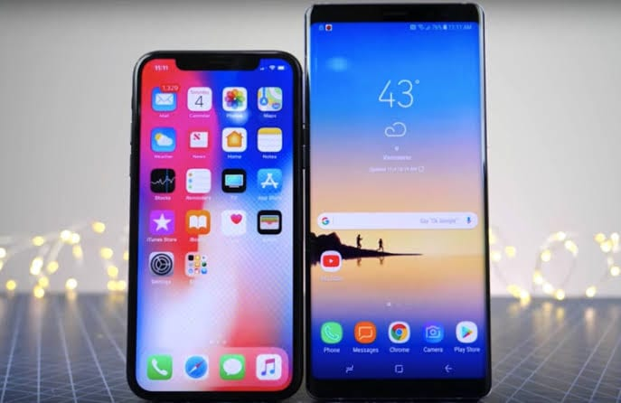 Samsung Galaxy S9 and iPhone X