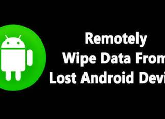 Remotely Wipe Android phone