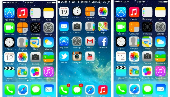 Android Launcher iPhone