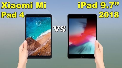 Xiaomi Mi Pad 4 vs iPad 9.7 2018