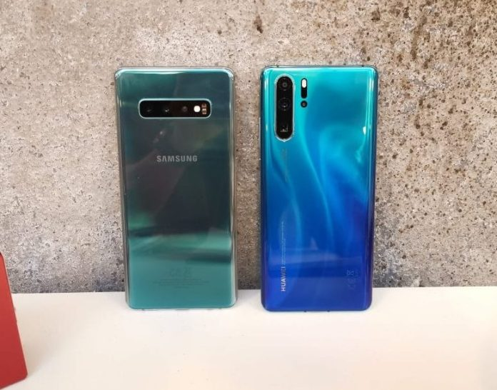 Galaxy S10 5G ties with Huawei P30 Pro