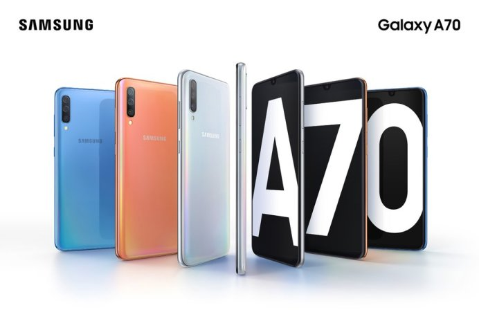 The Samsung Galaxy A70 is now official impressive display and massive battery in tow