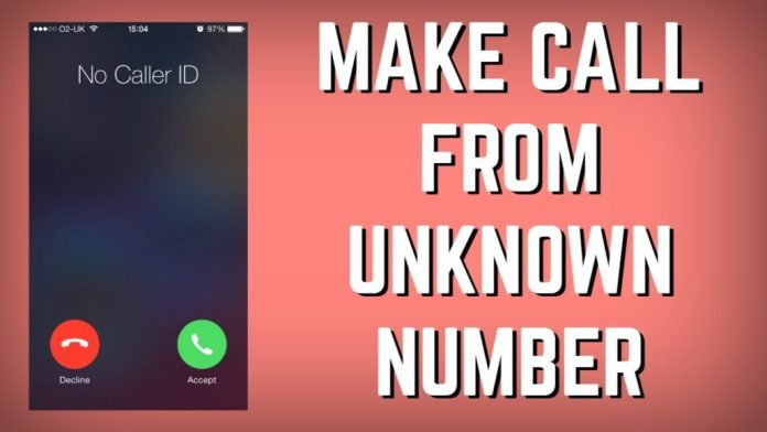How to call with a hidden number