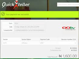 Pay GOtv Bills Quickteller