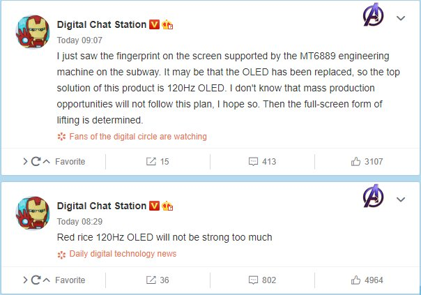 Redmi Dimensity 1000+ phone could feature 120Hz OLED display with pop-up camera