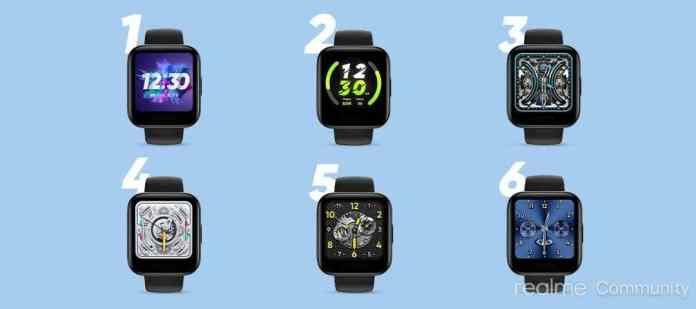 The six watch faces to be named