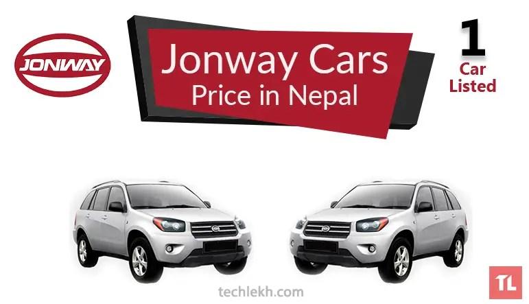 jonway car price in nepal
