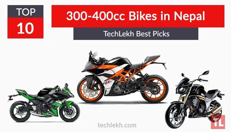 top best 300-400cc bikes in nepal