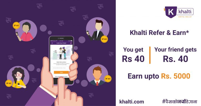 Khalti brings 'Refer and Earn' and 'Khalti Points' Offers