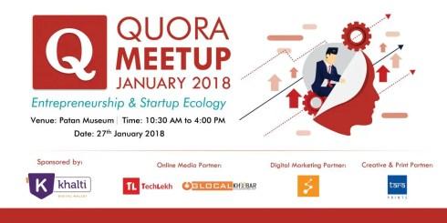 Quora Meetup January 2018: Entrepreneurship & Startup Ecology