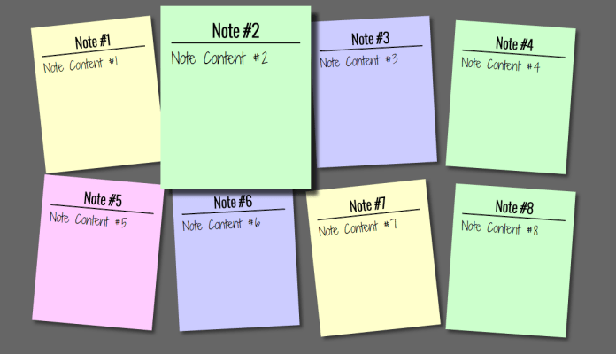 sticky note effect using html and css