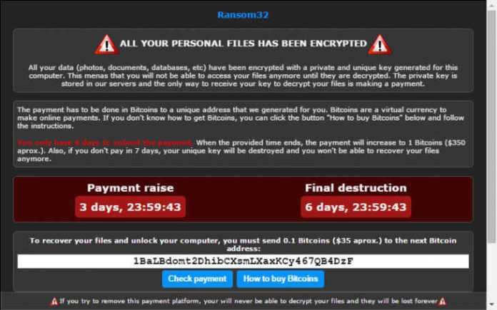 Ransom32 is First JavaScript-Based Ransomware