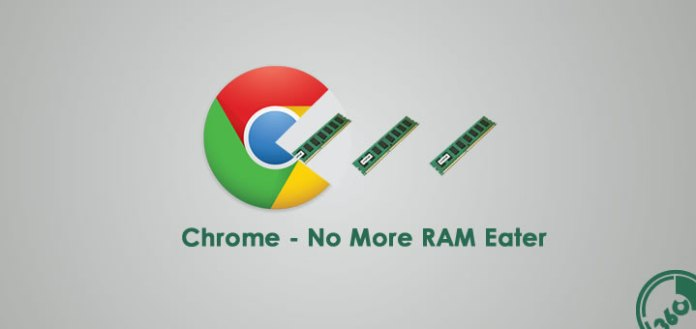 Chrome will consume less RAM
