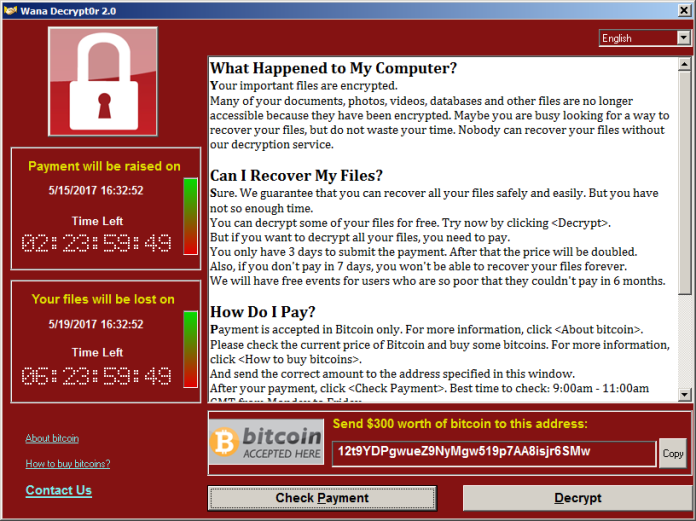 Massive Ransomware Attack With Stolen NSA Tool WannaCry