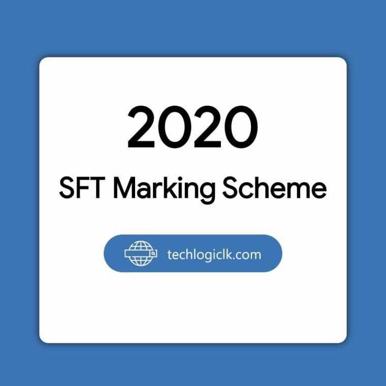 2020 SFT Marking Scheme