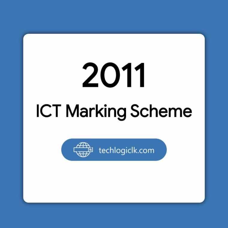 2011 ICT Marking