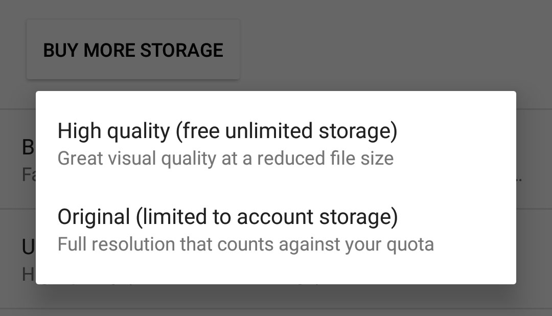 Google Unlimited free photo and video storage
