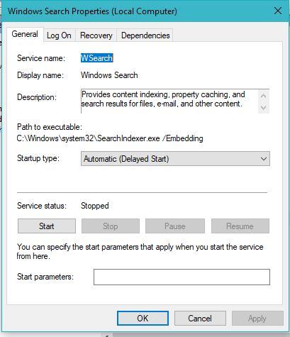 Windows Search Speedup Windows 10 PC