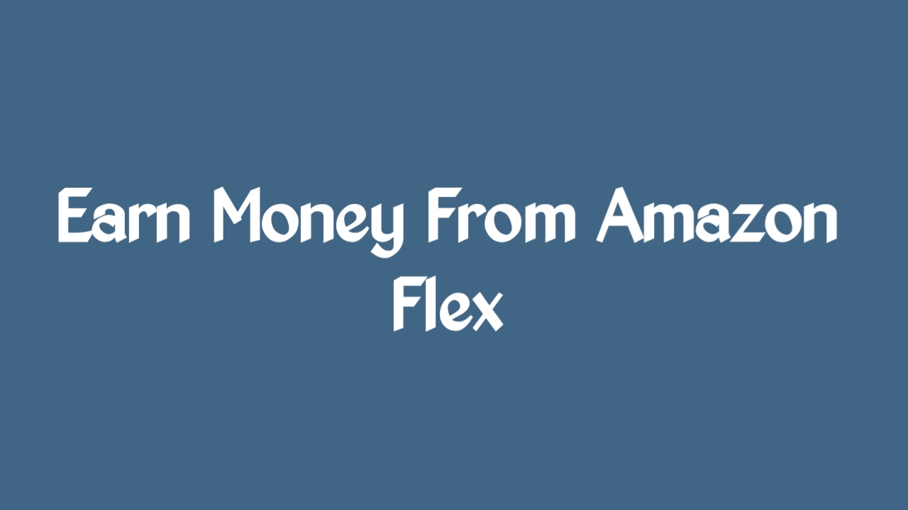 Earn Money From Amazon Flex-Amazon Flex Se Paisa Kaise Kamaye