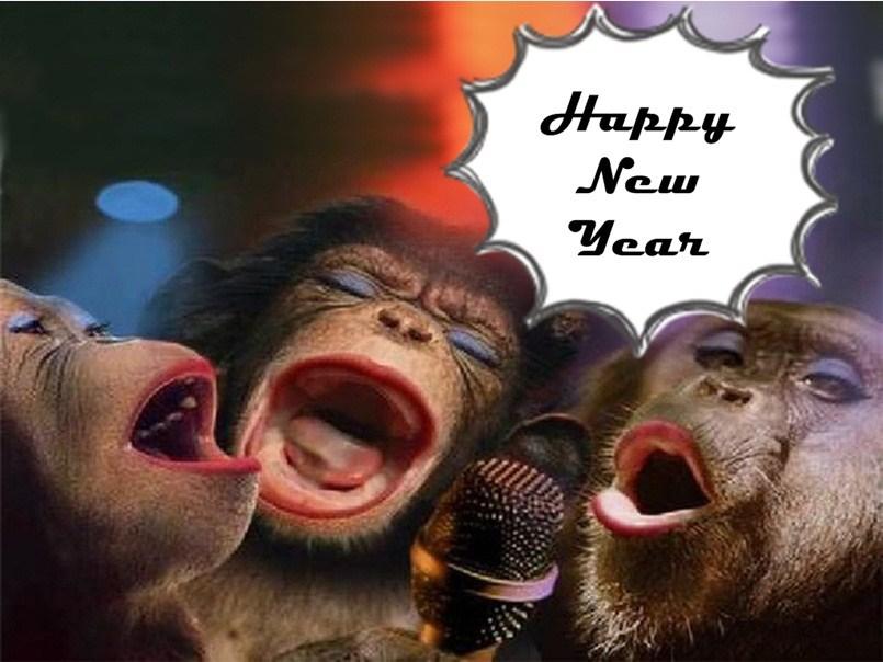 fuuny happy new year 2020 chimpangi pic