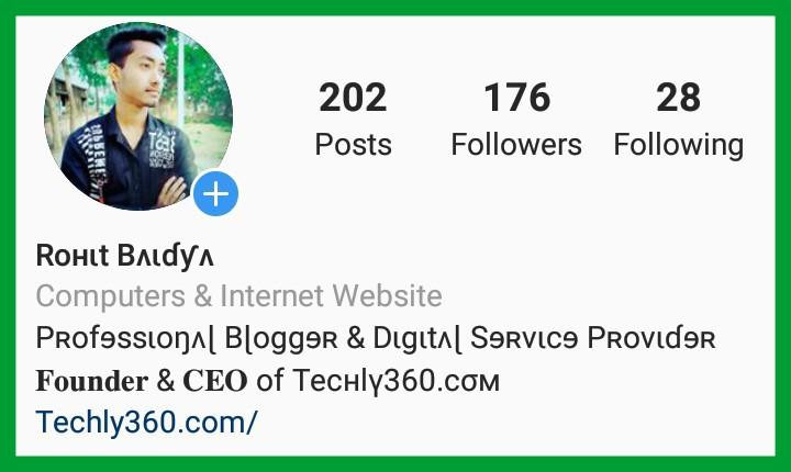 instagram account Rohit Baidya