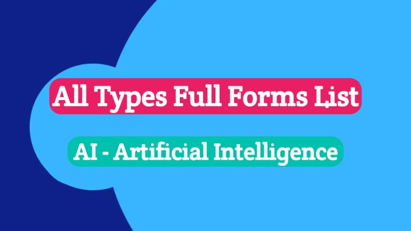 Full Forms List 2020, Banking Full Forms List, Computer Full Forms List, Financial Full Forms List, Telecom Related Full Forms List