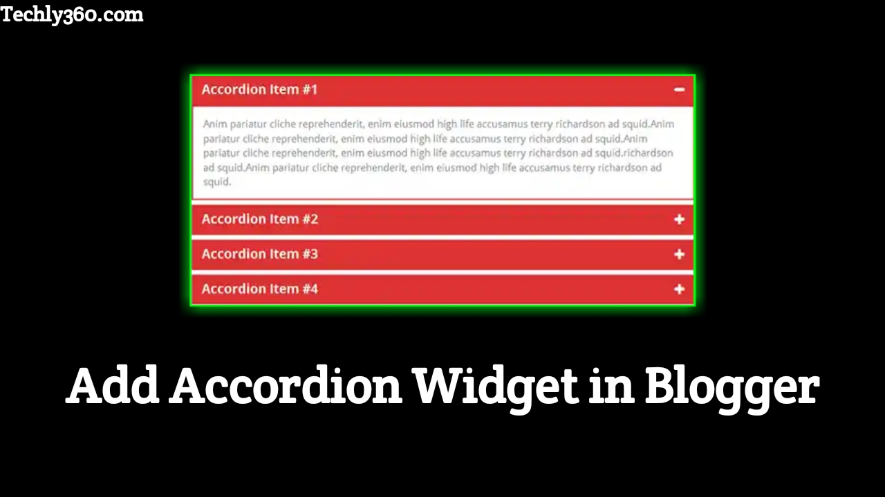 How to Add Accordion in Blogger | Create Accordion Widget in Blogger