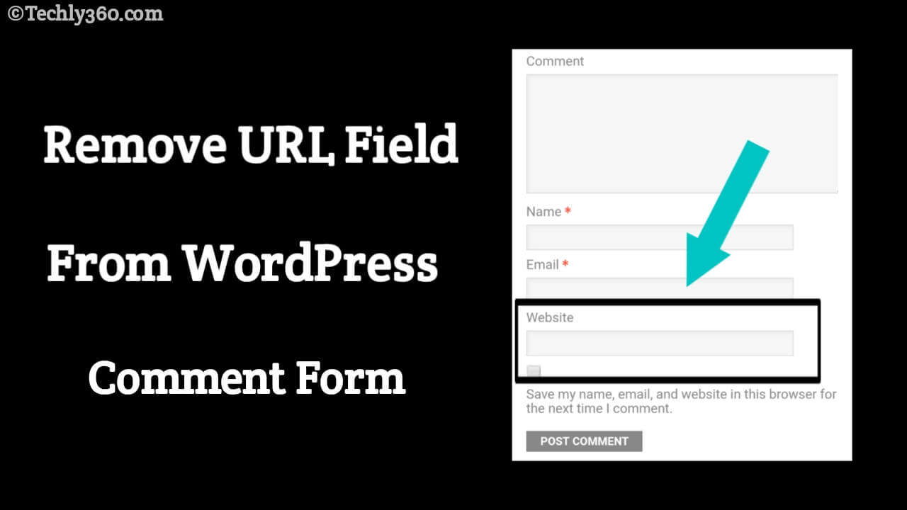 How to Remove URL Field From WordPress Comment Form in Hindi