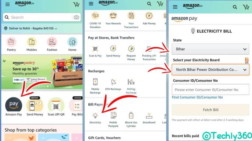 Bihar Bijli Bill Check Amazon Pay