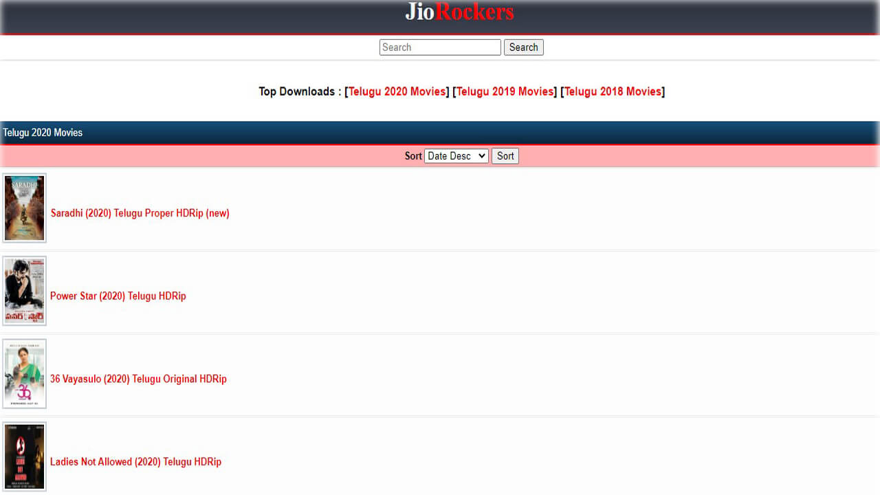 Jio Rockers 2021 New Link: Download Latest HD Tamil, Telugu Movies