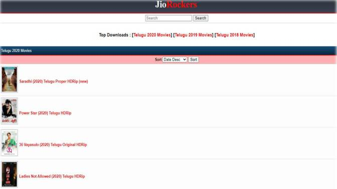 Jio Rockers telugu movies download, Jio Rockers Tamil latest link