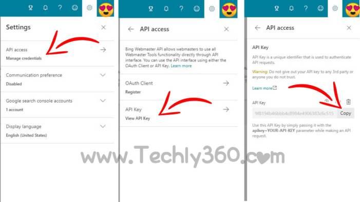 Create API & Get API Access in Bing