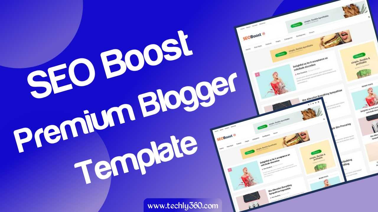 SEO Boost Premium Blogger Template Download Free