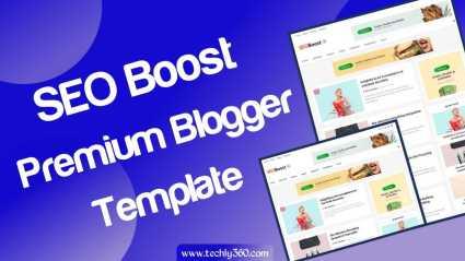 SEO Boost Premium Blogger Template Download Free