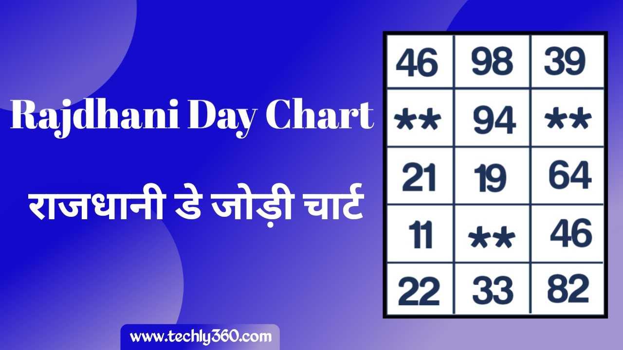 Rajdhani Day Chart, Rajdhani Jodi Chart – राजधानी डे चार्ट, राजधानी जोड़ी चार्ट