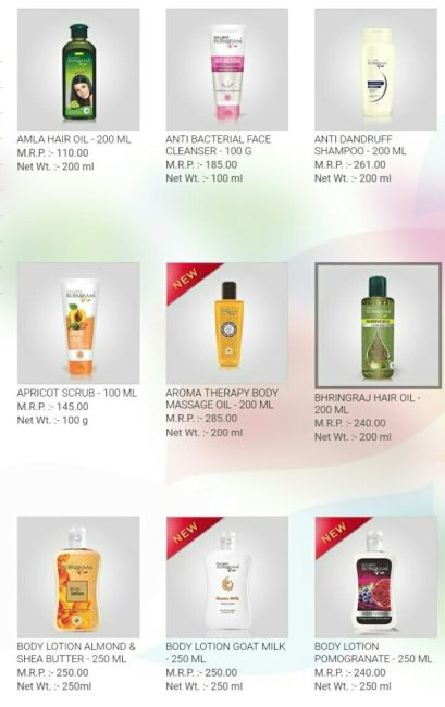 GLAZE india product list
