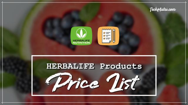 Herbalife Products Price List India 2019 PDF (New)