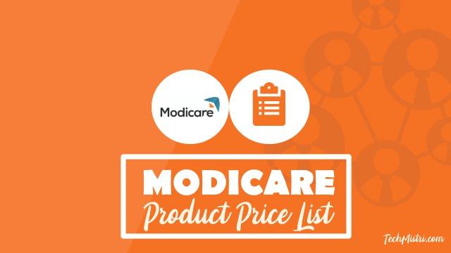 Modicare-Product-Price-List