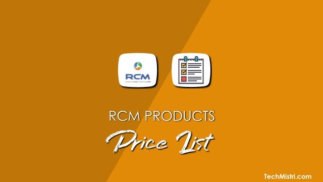 RCM-Product-Price-List