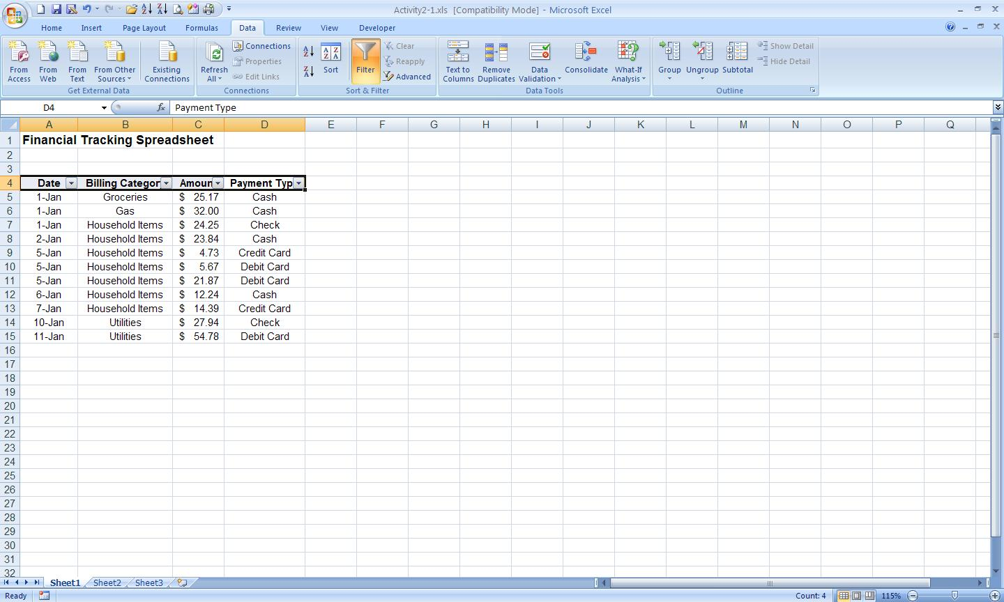 Filtering In Excel Multiple Columns